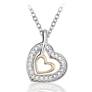 Laluna Heart Necklace (N03011-01)
